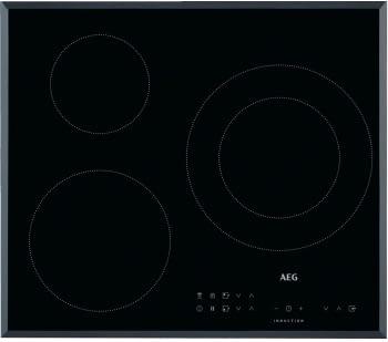 Placa de Inducción AEG IKB63301XB | 60 cm | 3 Zonas de cocción con PowerBoost | Conexión Placa-Campana Hob2Hood
