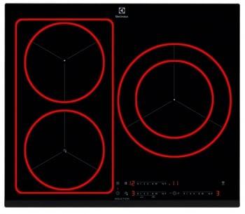 Placa de Inducción Electrolux EIF61342 Flexible | Control Fritura | 3 Zonas ø28cm | Stock
