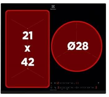 Placa de Inducción Electrolux EIF61342 Flexible | Control Fritura | 3 Zonas ø28cm | Stock - 3