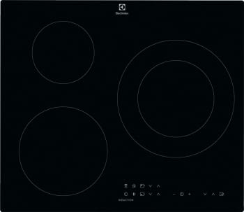 Placa de Inducción Electrolux EIT60336CK de 60 cm con 3 Zonas Max 28 cm Placa-Campana Hob2Hood