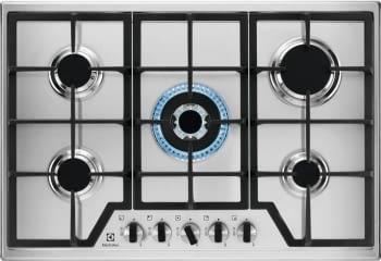 Placa de Gas Electrolux KGS7536X de 75 cm con 5 Quemadores SpeedBurner, 1 Wok