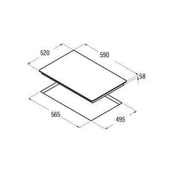 Placa de Inducción Cata IB 6303 BK   60 cm   3 Zonas - Max. 28 cm   Función Booster   9 niveles de potencia regulables   Temporizador - 3