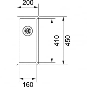 FRANKE BOX BXX 210-16 FREGADERO BAJO ENCIMERA A RAS INOX - 2