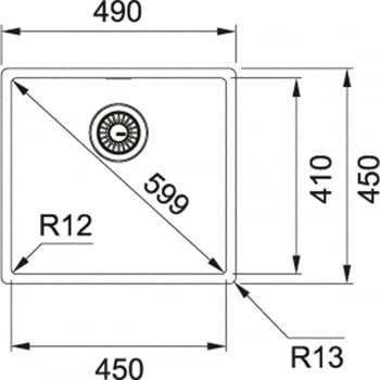 FRANKE BOX BXX 210-45 FREGADERO BAJO ENCIMERA A RAS INOX - 2