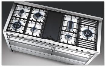 SMEG A5-81 COCINA A GAS ESTÉTICA OPERA 150cm INOX 7 ZONAS COCCIÓN + PLANCHA y DOS HORNO | Envío Gratis - 2