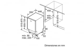 Lavavajillas Bosch SPV46FX00E Integrable de 45 cm para 10 servicios | Motor EcoSilence Clase A++ | Serie 4 - 9