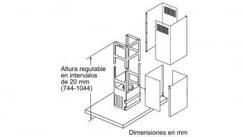 BALAY 3BI998HGC CAMPANA ISLA CRISTAL GRIS ANTRACITA 90CM 867M3/H A+ - 8