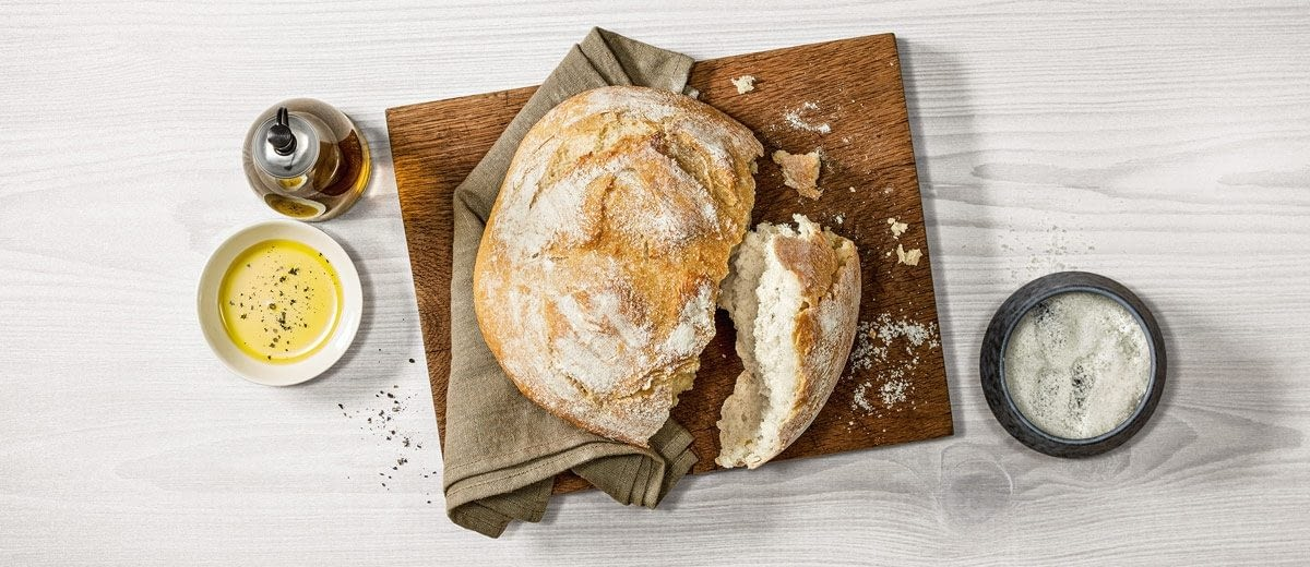 Pan con masa fermentada