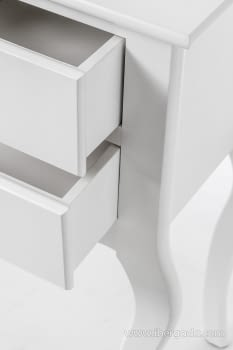 Consola Estrecha 3 Cajones Blanca  (70x33x80) - 2