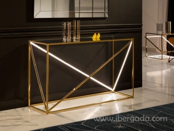 Consola Moonlight Oro LED (120x40x75)