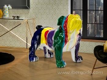 Figura Bulldog Multicolor (72x110x94)