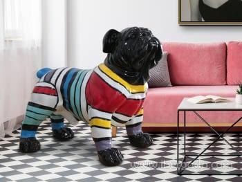 Figura Bulldog Franjas Grande (72x110x94)