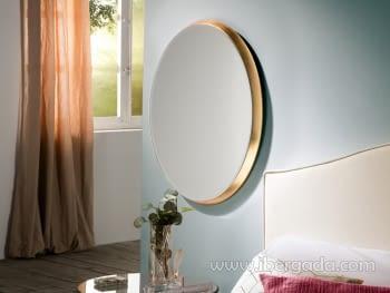 Espejo Aries Oval Oro (54x64)