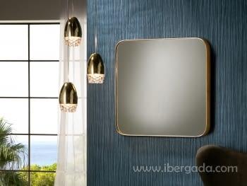 Espejo Orio Cuadrado Oro (51x51)