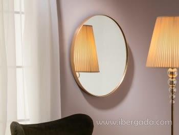 Espejo Orio Oval Oro (51x61)