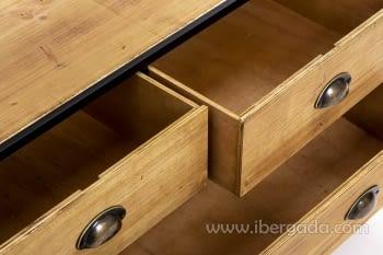 Estantería madera/hierro Plegable (87x42x137) - 4