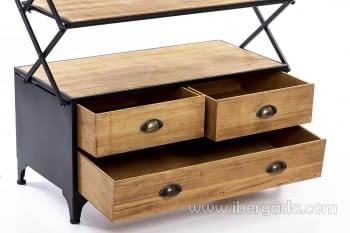 Estantería madera/hierro Plegable (87x42x137) - 5
