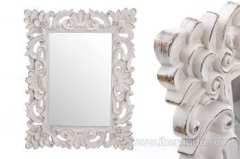 Espejo Barroco Blanco (107x83)