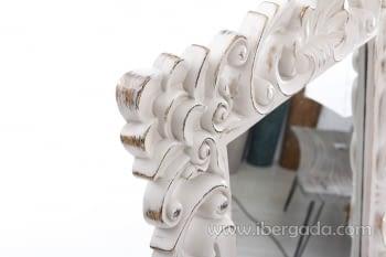 Espejo Barroco Blanco (107x83) - 1