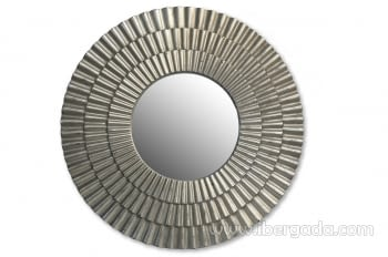 Espejo Redondo Plata (104x104)