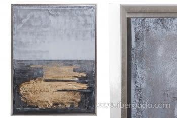 Cuadro Abstracto Vertical Oro (125x95)
