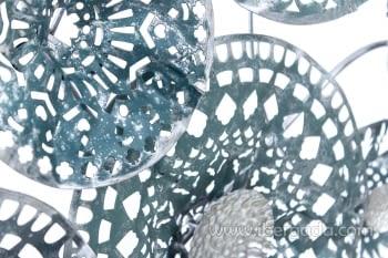 Cuadro de Metal Verde/Gris (135x69) - 1