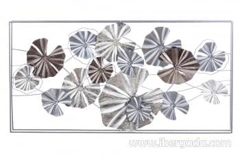 Cuadro de Metal Multicolor/Plata (135x69)