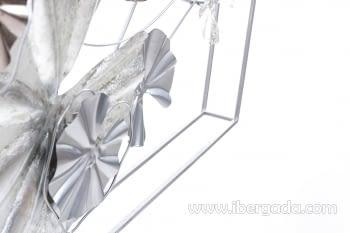 Cuadro de Metal Multicolor/Plata (135x69) - 2