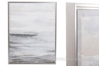 Cuadro Abstracto Vertical Gris/Plata (125x95)