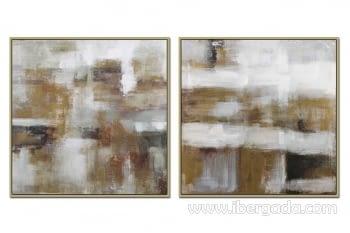 Juego de 2 Cuadros Abstractos (100x100)