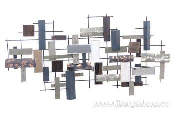 Cuadro de Metal Multicolor (135x69)