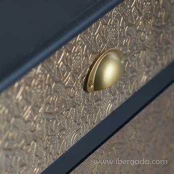 Cómoda Gold 4 Cajones Oro/Negro - 2