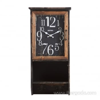 Reloj de Pared Vintage Negro/Natural (63x30)