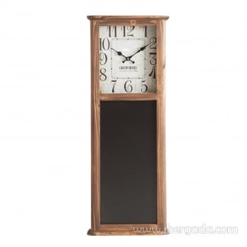 Reloj de Pared Vintage II Negro/Natural (91x35)