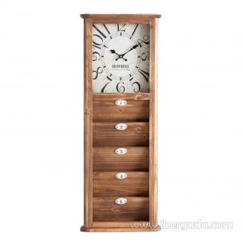Reloj de Pared Camden Blanco/Envejecido (95x36)