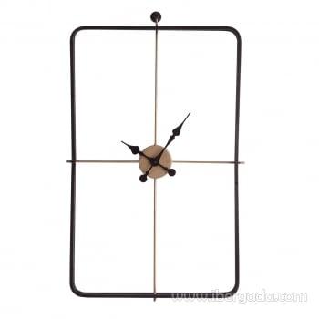 Reloj de Pared Negro/Oro (80x50)