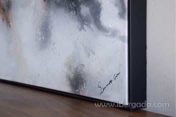 Cuadro Oleo Abstracto Plata/Cobre I (135x90) - 2