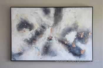 Cuadro Oleo Abstracto Plata/Cobre II (135x90)