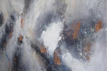 Cuadro Oleo Abstracto Plata/Cobre II (135x90) - 1