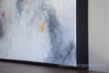 Cuadro Oleo Abstracto Plata/Cobre II (135x90) - 3