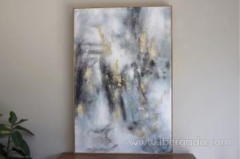 Cuadro Oleo Abstracto Plata/Oro I (135x90) - 2