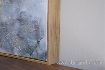 Cuadro Oleo Abstracto Plata/Oro I (135x90) - 3