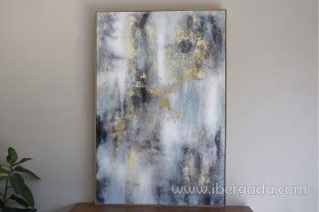 Cuadro Oleo Abstracto Plata/Oro II (135x90) - 2
