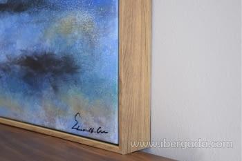 Cuadro Oleo Abstracto Azul/Oro I (120x100) - 2