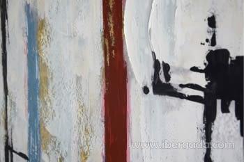 Cuadro Oleo Abstracto Blanco/Negro I (120x90) - 1