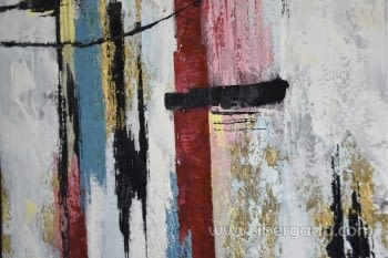 Cuadro Oleo Abstracto Blanco/Negro II (120x90) - 1