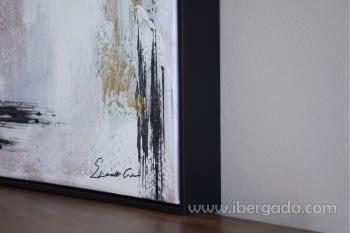 Cuadro Oleo Abstracto Blanco/Negro II (120x90) - 2