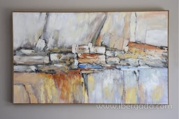 Cuadro Oleo Abstracto Colores/Oro I (150x90)