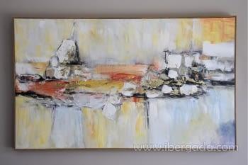 Cuadro Oleo Abstracto Colores/Oro II (150x90)