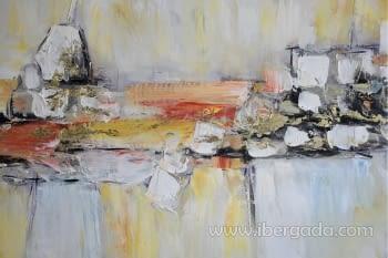 Cuadro Oleo Abstracto Colores/Oro II (150x90) - 1